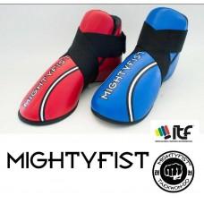 Mightyfist sparrings fotbeskyttere i lær