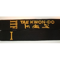 ITF Taekwon-Do broderte belter